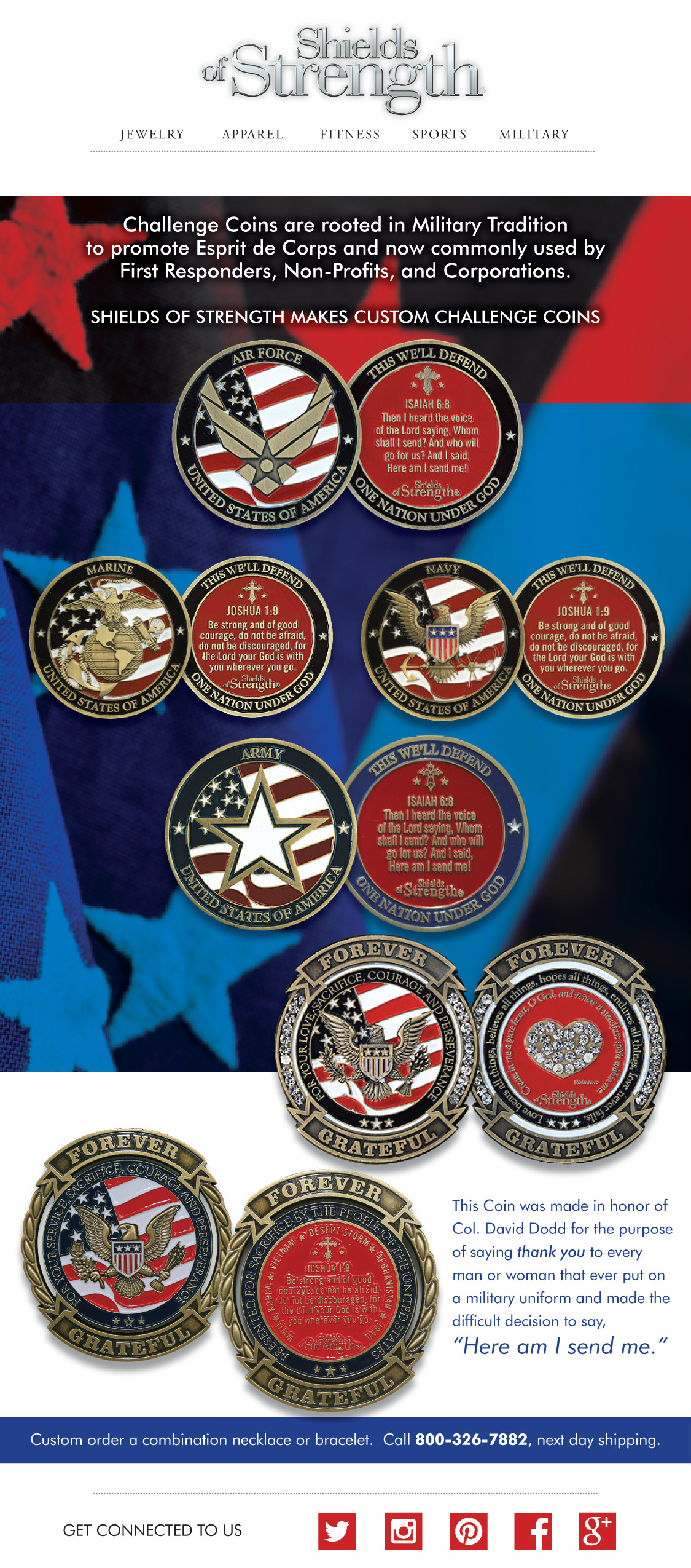 Challenge Coins - Shields of Strength